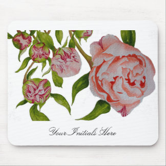 Budding Peonies on a Mouse Pad