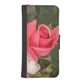 Budding Pink Rose iPhone SE/5/5s Wallet Case