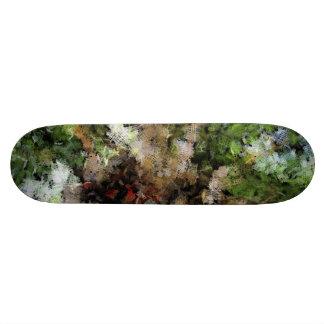 Budding plant 18.1 cm old school skateboard deck