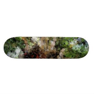 Budding plant skateboard decks
