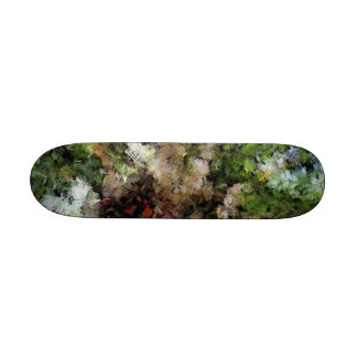 Budding plant 21.6 cm old school skateboard deck