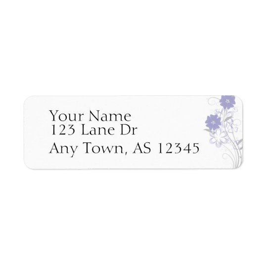 Budding Romance in Lavender Return Address Return Address Label