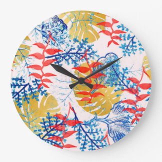 Budding Romance Large Clock