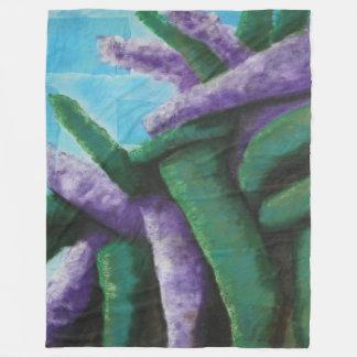 Buddleia Abstract Beach Towel Fleece Blanket