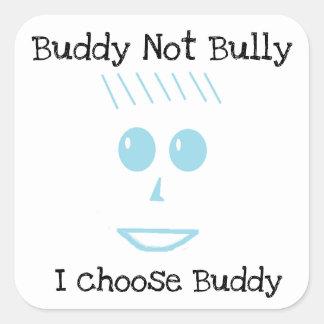 Buddy Not Bully Blue Boy Square Sticker