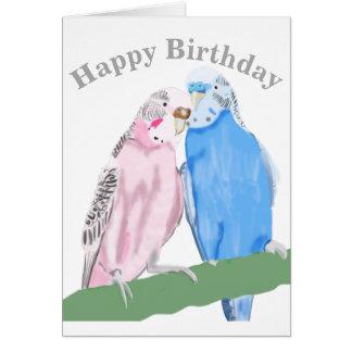 Budgerigar Editable Birthday Card