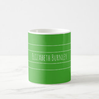 Budgerigar green personalised with your name coffee mug