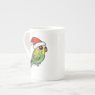 Budgerigar Santa Claus Tea Cup
