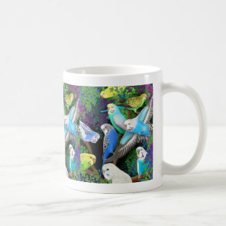 Budgerigars and Ferns Mug