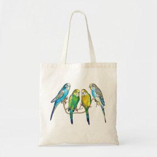 budgerigars tote bag