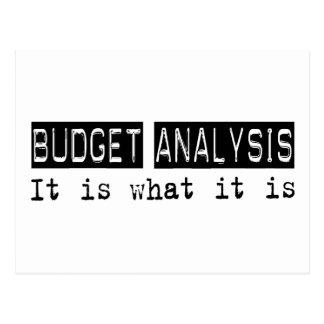 Budget Analysis It Is Postcard