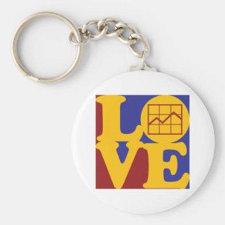 Budget Analysis Love Key Chain