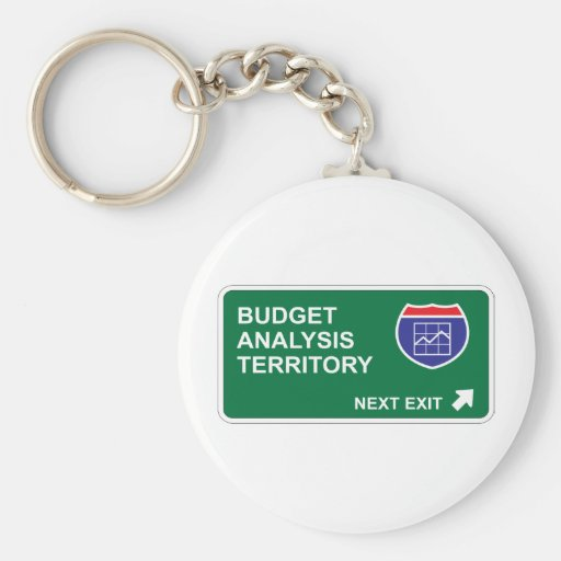 Budget Analysis Next Exit Keychain