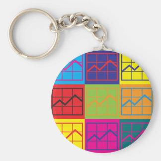 Budget Analysis Pop Art Keychain