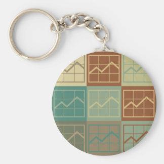 Budget Analysis Pop Art Keychains