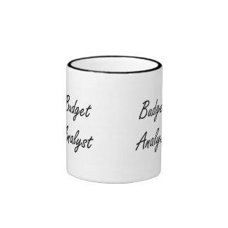 Budget Analyst Artistic Job Design Ringer Mug