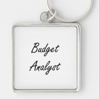 Budget Analyst Artistic Job Design Silver-Colored Square Key Ring