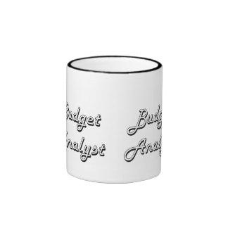 Budget Analyst Classic Job Design Ringer Coffee Mug