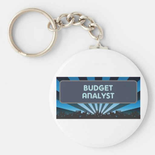 Budget Analyst Marquee Key Chains