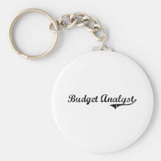 Budget Analyst Professional Job Keychains