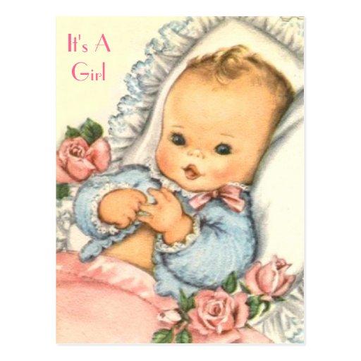 budget BABY SHOWER Invitation Post Card
