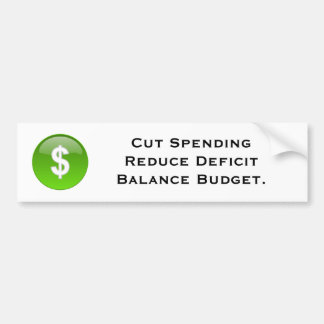 Budget Bumper Sticker