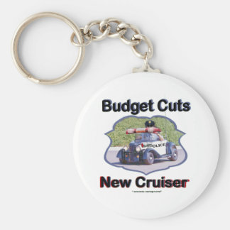Budget Cuts New Cruiser Basic Round Button Key Ring