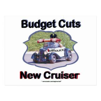 Budget Cuts New Cruiser Postcard
