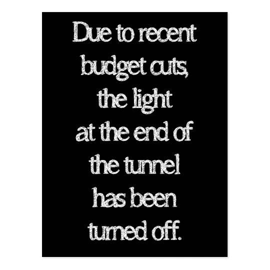 Budget Cuts Postcard
