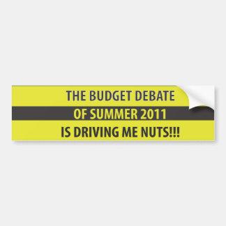 Budget Debate Bumper Sticker