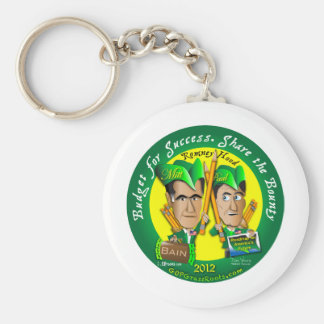 Budget For Success Basic Round Button Key Ring