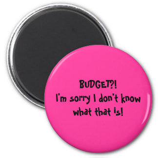 BUDGET?!I'm sorry I don't know what that is! Magnet
