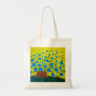 Budget shopping tote, fantasy flowers are jumping bags
