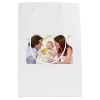 Budget Special Family Photo Template Medium Gift Bag