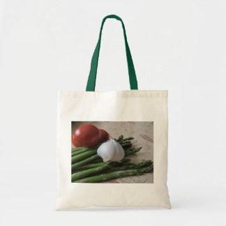 Budget Tote--Asparagus, Garlic & Tomatoes Tote Bag
