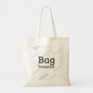 Budget Tote Bag Custom Template