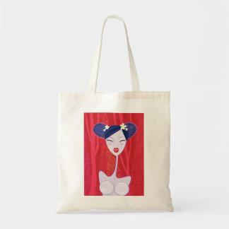 Budget tote bag with Geisha illustration