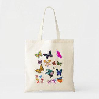 Budget tote handbag butterfly white