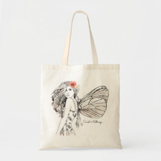Budget Tote - Shadow Fairy with Flower in Her Hair