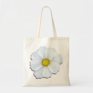 Budget Tote - White Cosmos