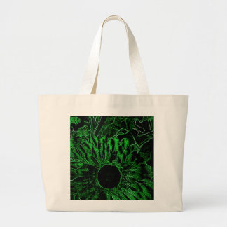 Budget Tote with Green Sunflower Tote Bags