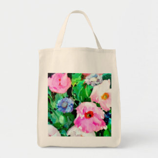 Budget Tote with Vintage Flowers Bags