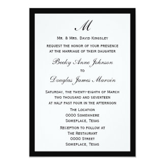 Budget Wedding Pick Border Color on White Card