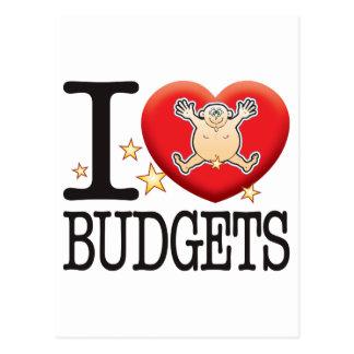 Budgets Love Man Postcard