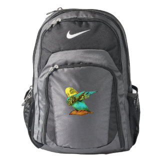 Budgie Budgerigar Dabbing Backpack