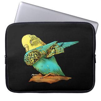Budgie Budgerigar Dabbing Laptop Sleeve