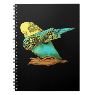 Budgie Budgerigar Dabbing Notebook