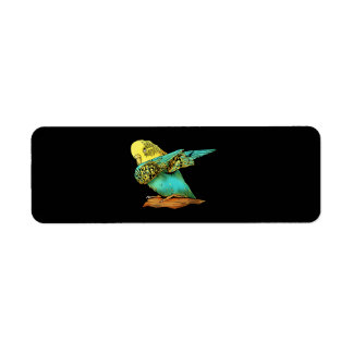 Budgie Budgerigar Dabbing Return Address Label