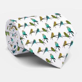 Budgie Frenzy Tie Double Sided Print