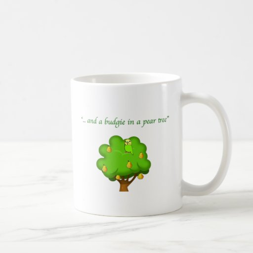 Budgie in a Pear Tree Mug